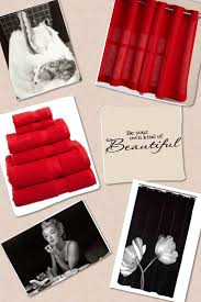 Red And Black Bathroom Accessories by Marilyn Monroe Bathroom Accessories