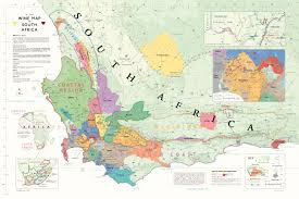 Map South Africa Wine Maps