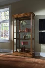 Pulaski Furniture Curio Cabinet by Pulaski Edwardian Curio In Cherry Finish Cherry Finish