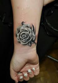 grey rose wrist tattoo tattoomagz