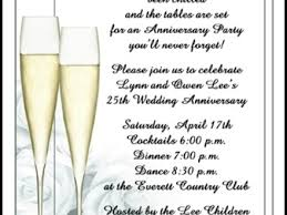 25 best ideas about wedding anniversary invitations on 25th