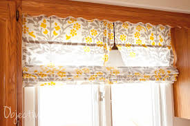 Roman Blinds For Kitchen Objective Home Easy No Sew Roman Shades For 4 50