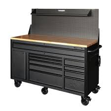 workbench with pegboard and light husky 61 in 10 drawer 1 door 24 in d mobile workbench with