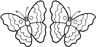 of flowers and butterflies coloring pages for kids and for