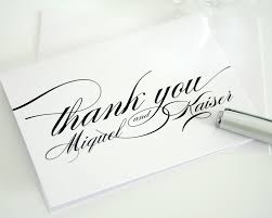 personalized wedding thank you cards with script thank you cards
