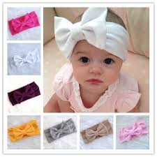 baby headwrap 10pcs new baby girl cotton headwrap big bow turban headband for