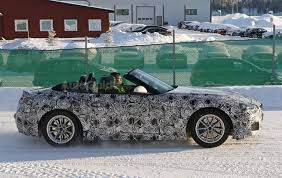 convertible toyota 2017 bmw z5 and toyota supra spied frolicking in the snow together