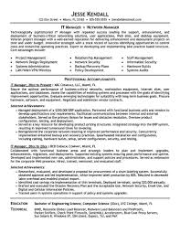 It Manager Sample Resume by It Manager Sample Resume Free Resume Example And Writing Download