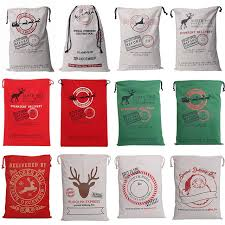 monogrammable items 2017 christmas large canvas monogrammable santa claus drawstring bag