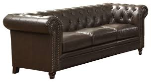 coaster coaster roy pull up bonded leather stationary sofa