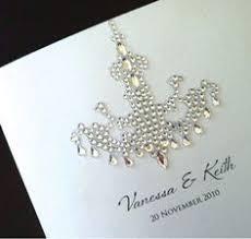 bling wedding programs handmade wedding programs with chandaliers glamor