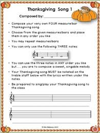 six composition activities for thanksgiving lessons