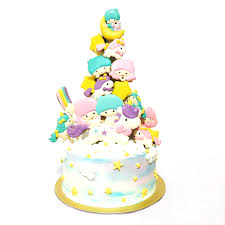 twin star unicorn macaron tower cake creme maison bakery