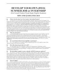 Resume For Summer Internship Resume Samples For Internships For College Students Cover
