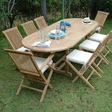 m chaises salon de jardin en teck ecograde bora bora table extensible 1 60 à