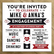 Engagement Party Invites Wedding Engagement Birthday Party Invitations By A Is For