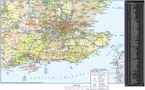 Map Of England And France by Vector South East England Map County Political Road And Rail Map