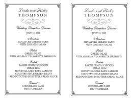 menu template wedding wedding menu template wedding menu template 4 free wedding menu