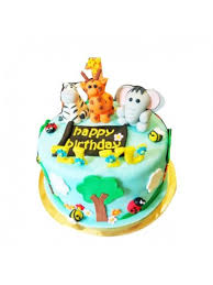 jungle theme cake jungle theme fondant cake 2kg online gifts shopping india