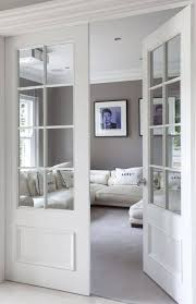 Modern White Interior Doors House Interior With Red Walls And Modern Single Interior Door