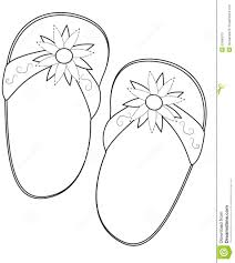 slippers coloring page stock illustration image 50480573
