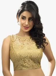 saree blouse buy salwar studio golden printed saree blouse for