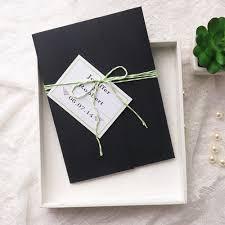 Wedding Invitation Pocket Envelopes Modern Simple Green Wedding Black Pocket Wedding Invitation Kits