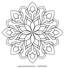 vector simple mandala abstract elements isolated stock vector