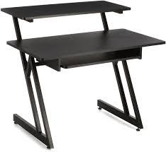 quiklok studio desk on stage stands ws7500 wooden workstation black sweetwater