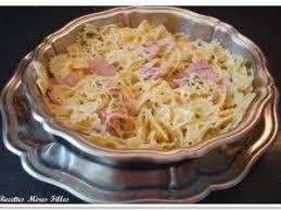 recette de cuisine avec des oeufs la recette pâtes pâtes au jambon et aux oeufs par recettes mères
