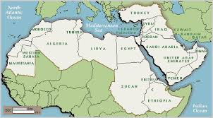 arab countries map arab map countries major tourist attractions maps