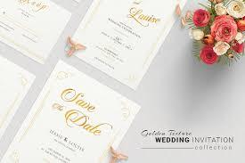 wedding invitation suite invitation templates creative market