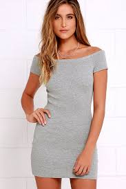 grey bodycon dress grey dress bodycon dress the shoulder dress 32 00