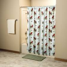 Shower Curtain Amazon Com Miles Kimball Christmas Cardinal Shower Curtain Home