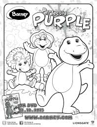 barney perfectly purple coloring mama likes
