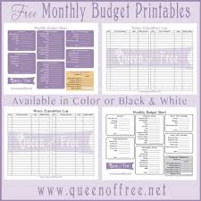 printable budget planner template free free printable budget forms queen of free