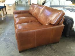 Chestnut Leather Sofa Braxton Leather Sofa U2013 Custom Dimensions U2013 98 U2033 X 48 U2033 The Leather