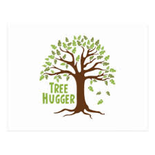 tree hugger postcards zazzle