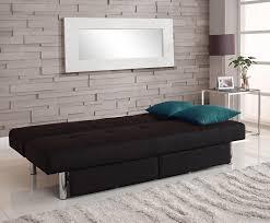convertible sofa dhp sola convertible sofa with storage in black amazon ca home