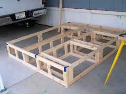 Build Bed Frame With Storage Splendid Platform Bed Plans Diy Bed Stand King Storage Bed