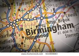 highway map of the united states closeup birmingham alabama on road map stock photo 644909683