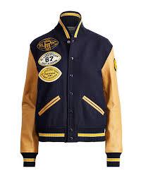 Denim And Supply Jacket Collegiate Wool Bomber Jacket Bombers Denim U0026 Moto Jackets