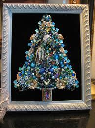 custom order framed vintage jewelry christmas tree theme