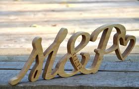 hochzeitsdeko 10 cm holz initialen 5 hochzeitstag geschenk - Geschenk 5 Hochzeitstag