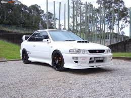 white subaru black rims 1998 subaru wrx boostcruising