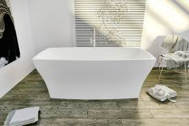 aquatica elise wht freestanding solid surface bathtub