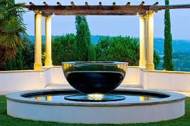 modern outdoor fountain chalice david harber