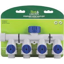 best garden poly 4 way connector hose shutoff manifold 39043