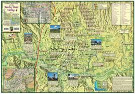 santa map santa ynez valley franko s fabulous maps of favorite places