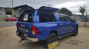 Alpha Canopies by Toyota Hilux 2016 Workstyle Canopy